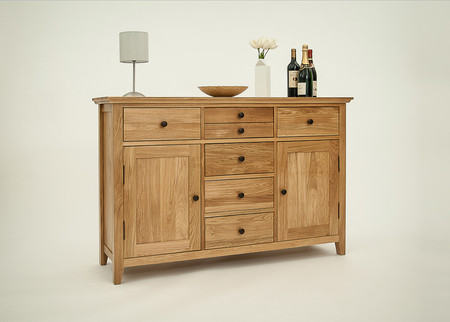 Hereford Rustic Oak 135cm Sideboard