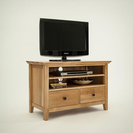 Hereford Rustic Oak Small TV Unit
