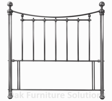 Isabelle Antique Nickel Headboard - Multiple Sizes (150cm - King Size)