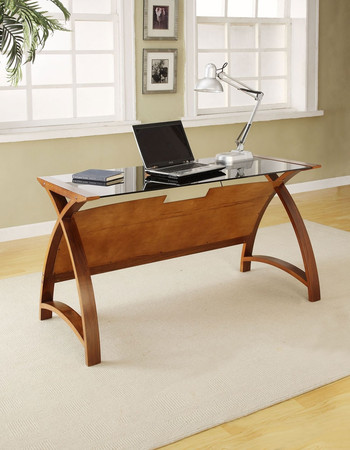 Jual Curve Walnut 1300 Laptop Table PC201