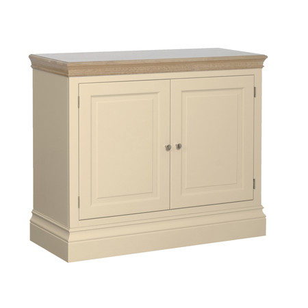 Lundy Painted & Oak 2 Door Sideboard (Ivory)