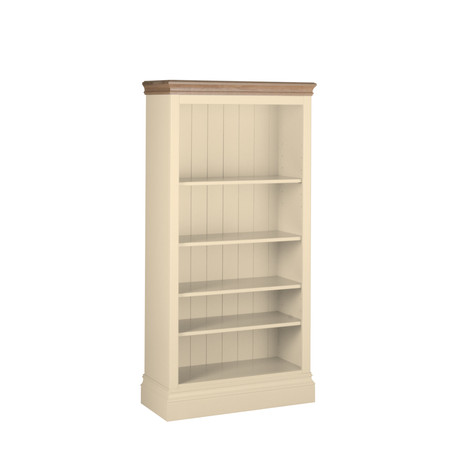 Lundy Painted & Oak 5' Bookcase (Ivory)