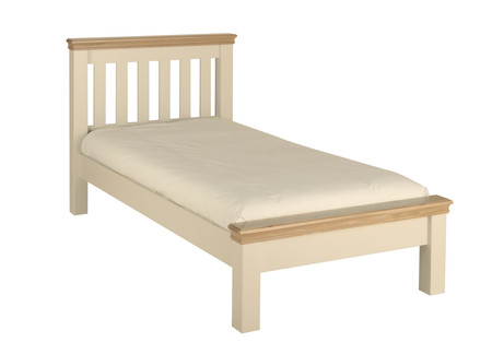 Lundy Painted & Oak Low Foot End Bed - Multiple Sizes (Super King Size Bed in Ivory)