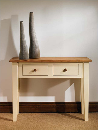 Mottisfont Painted Console Table (Cream, Pine, Metal)
