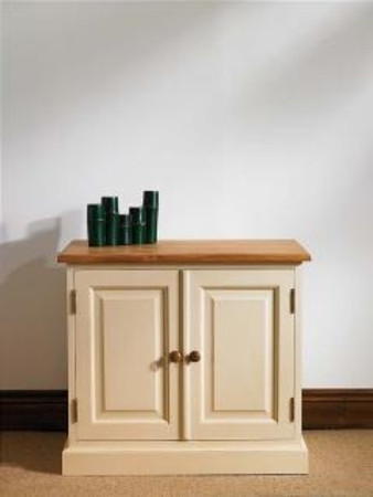 Mottisfont Painted Cupboard With 2 Doors (Green, Pine, Wooden)