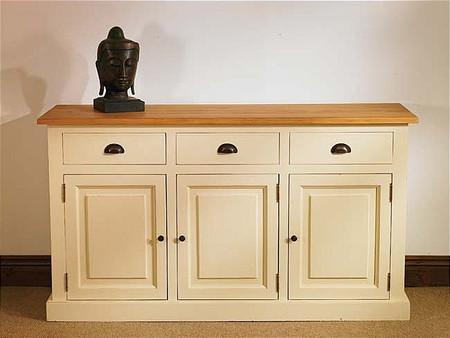 Mottisfont Painted Flour Dresser Base (White, Pine, Wooden)