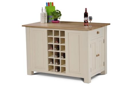 Mottisfont Painted Kitchen Island Unit (Cream, Pine, Wooden)