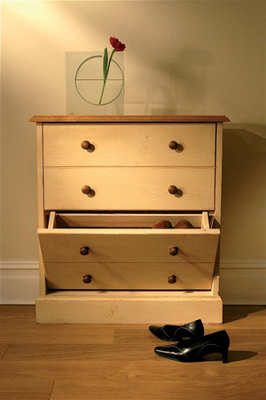 Mottisfont Painted Small Shoe Rack (Cream, Pine, Wooden)