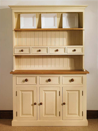 Mottisfont Painted Spice Dresser (White, Oak, Metal)