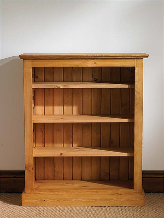 Mottisfont Waxed Bookcase Large