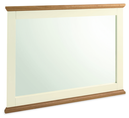 Provence Two Tone Wide Wall Mirror - 108 x 88cm