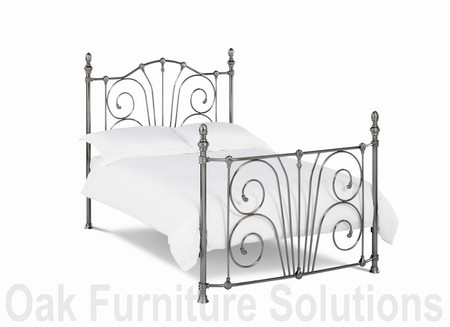 Rebecca Nickel Bedstead - 135cm- Double & 150cm - King Size (150cm - King Size)