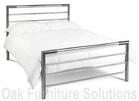 Urban Nickel/Chrome Bedstead - 90cm - Single - 122cm - Small Double, 135cm - Double & 150cm - King Size (150cm - King Size)