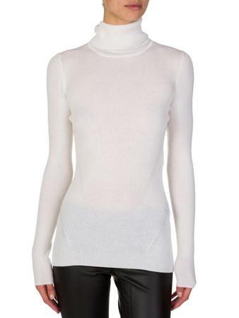 Diane Von Furstenberg Cream Roll Neck Jumper - Size 10