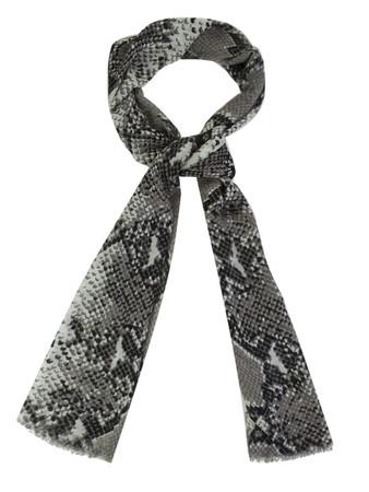 Diane Von Furstenberg Grey Python Scarf  - Size 1Sze