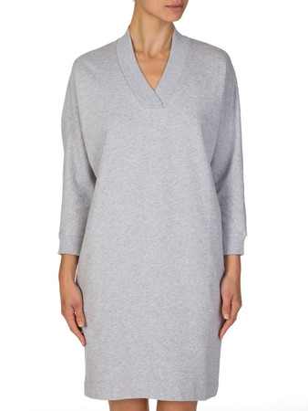 Kenzo Grey Logo Long V-Neck Jumper - Size 6
