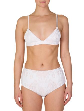 Mara Hoffman White Triangle Bikini Top - Size 8