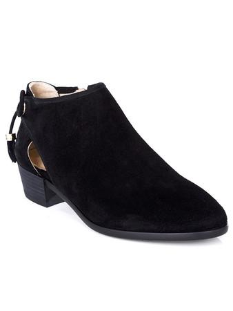 Michael Kors Black Jennings Flat Ankle Boots - Size 7