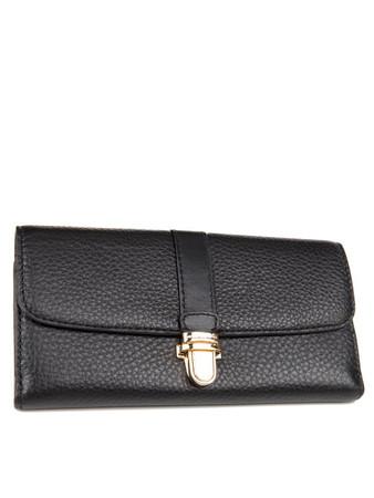 Michael Kors Black Leather Charlton Flap Wallet - Size 1Sze