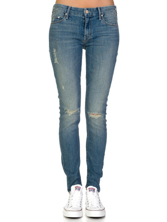 Mother Stonewash The Looker Cut It Out Skinny Jeans - Size 25