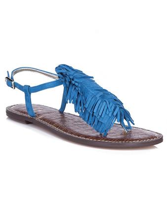 Sam Edelman Blue Suede Gela Malibu Sandals - Size 7
