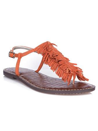 Sam Edelman Orange Suede Gela Tassel Sandal - Size 7