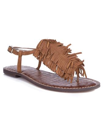Sam Edelman Tan Gela Suede Tassel Sandal - Size 6