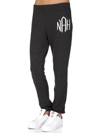 Wildfox Charcoal Striped Sweat Pants  - Size 12