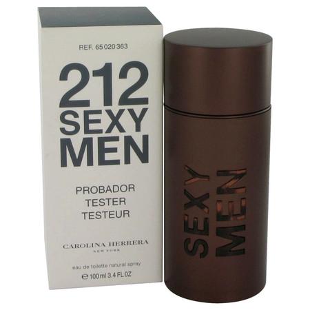 212 Sexy Cologne by Carolina Herrera, 100 ml Eau De Toilette Spray (Tester) for Men
