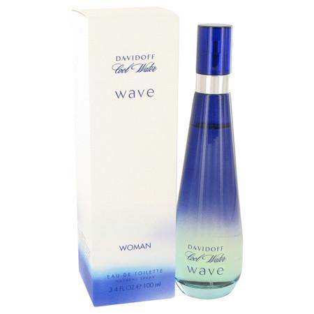 Cool Water Wave Perfume by Davidoff, 100 ml Eau De Toilette Spray for Women