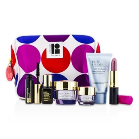 Estee Lauder Travel Set: Makeup Remover 30ml + Advanced Time Zone Creme 15ml + Eye Creme 5ml + ANR II 7ml + Mascara 2.8ml + Lipstick #61 3.8g + Bag 6pcs+1bag