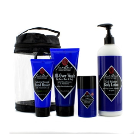 Jack Black Clean & Cool Body Basic Set: All Over Wash 177ml + Hand Healer 88ml + Body Lotion 473ml + Deodorant 78g 4pcs