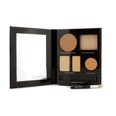Laura Mercier The Flawless Face Book - # Sand (1x Creme Compact  1x Pressed Powder w/ sponge  1x Secret Camouflage...) 5pcs