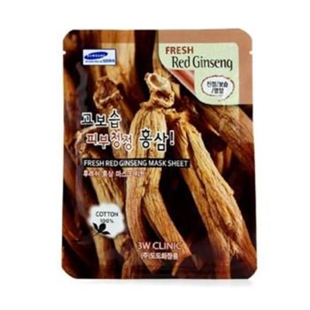 3W Clinic Mask Sheet - Fresh Red Ginseng 10pcs Skincare