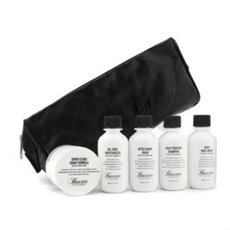 Baxter Of California Travel Kit: Face Wash + Shave Formula + Moisturizer + Shave Balm + Shampoo + Bag 5pcs+1bag Men's Skincare