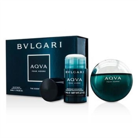 Bvlgari Aqva Pour Homme Coffret: Eau De Toilette Spray 50ml/1.7oz + Deodorant Stick 75ml/2.7oz 2pcs Men's Fragrance