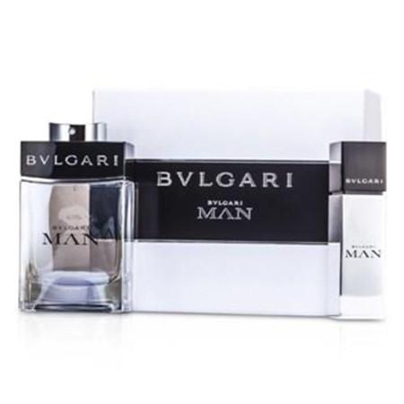 Bvlgari Man Coffret: Eau De Toilette Spray 100ml/3.4oz + Eau De Toilette Travel Spray 15ml/0.5oz 2pcs Men's Fragrance
