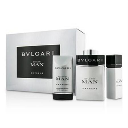 Bvlgari Man Extreme Coffret: Eau De Toilette Spray 100ml/3.4oz & 15ml/0.5oz + After Shave Balm 75ml/2.5oz 3pcs Men's Fragrance