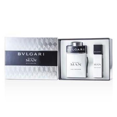 Bvlgari Man Extreme Coffret: Eau De Toilette Spray 100ml/3.4oz + Eau De Toilette Travel Spray 15ml/0.5oz 2pcs Men's Fragrance