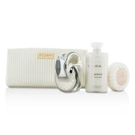 Bvlgari Omnia Crystalline Coffret: Eau De Toilette Spray 65ml/2.2oz + Soap 75g/2.6oz + Body Lotion 75ml/2.5oz + Pouch 3pcs+1pouch Ladies Fragrance