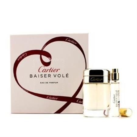 Cartier Baiser Vole Coffret: Eau De Parfum Spray 50ml/1.6oz + Eau De Parfum Spray 9ml/0.3oz 2pcs Ladies Fragrance