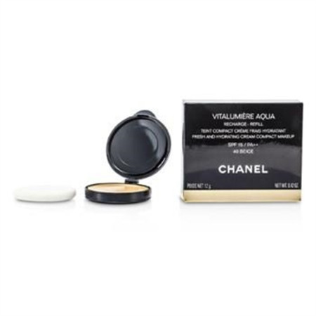 Chanel Vitalumiere Aqua Fresh And Hydrating Cream Compact MakeUp SPF 15 Refill - # 40 Beige 12g/0.42oz Make Up
