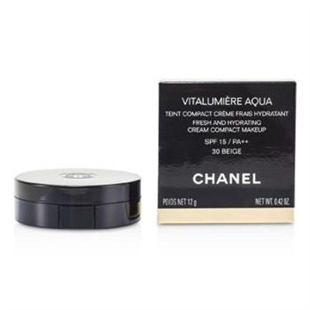 Chanel Vitalumiere Aqua Fresh And Hydrating Cream Compact MakeUp SPF 15 - # 30 Beige 12g/0.42oz Make Up