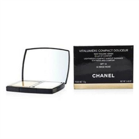 Chanel Vitalumiere Compact Douceur Lightweight Compact Makeup SPF 10 - # 32 Beige Rose 13g/0.45oz Make Up