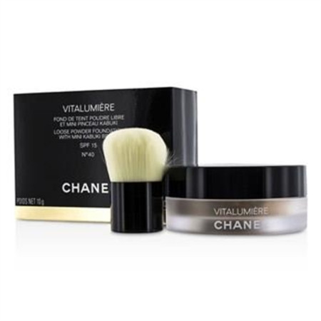 Chanel Vitalumiere Loose Powder Foundation SPF15 With Mini Kabuki Brush - # 40 10g/0.35oz Make Up