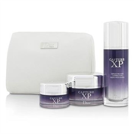 Christian Dior Capture XP Expert Wrinkle Correction Day Ritual Set: Serum 50ml/1.7oz + Creme 50ml/1.7oz + Eye Creme 15ml/0.5oz + Bag 3pcs+1bag Skincare