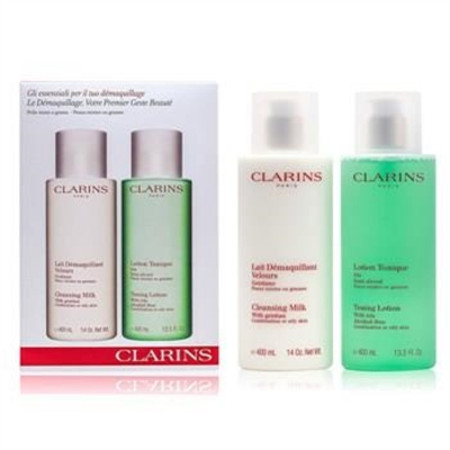 Clarins Cleansing Coffret: Cleansing Milk 400ml + Toning Lotion 400ml (Combination or Oily Skin) 2pcs Skincare