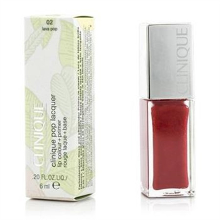 Clinique Pop Lacquer Lip Colour + Primer  - # 02 Lava Pop 6ml/0.2oz Make Up