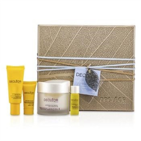 Decleor Hydrating Treasure Trove: Hydra Floral Moisturising Cream 50ml + Eye Cream 15ml + Serum 5ml + Night Balm 2.5ml 4pcs Skincare
