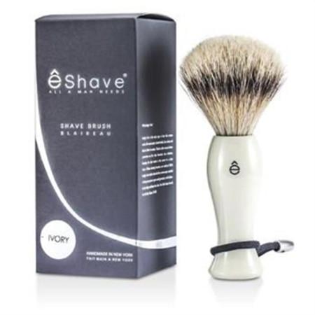 EShave Shave Brush Silvertip - White 1pc Men's Skincare